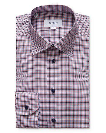 Eton - Tattersall Check Regular Fit Dress Shirt