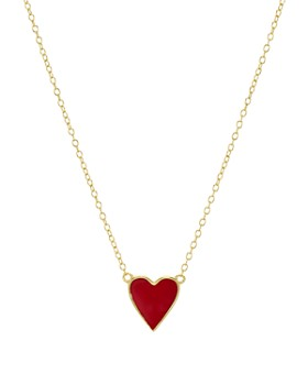 """AQUA - Heart Pendant Necklace in 18K Gold-Plated Sterling Silver, 16"""" - 100% Exclusive"""