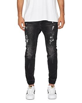NXP - Destroyer Tapered Fit Jeans in Blue Trash