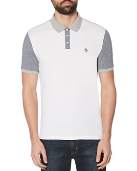 Original Penguin - Color-Block Slim Fit Polo Shirt