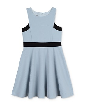 72621a5589 Pippa & Julie - Girls' Textured Fit-and-Flare Dress - Big Kid ...