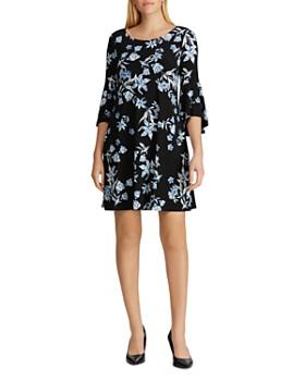 Ralph Lauren - Bell-Sleeve Floral-Jersey Dress
