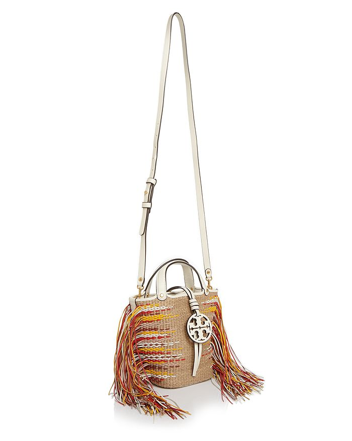 27cabdbc4a2 Tory Burch Miller Mini Fringe Bucket Crossbody | Bloomingdale's