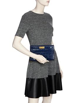 Tory Burch - Lee Radziwill Embossed Leather Clutch - 100% Exclusive