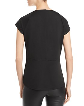 Status by Chenault - Tie-Front Peplum Top