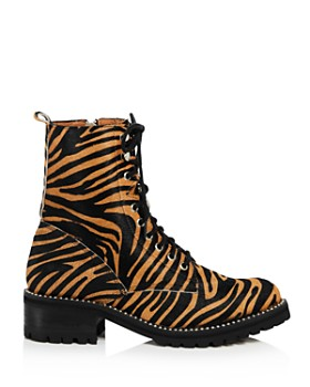AQUA - Women's Jax Studded Tiger-Print Hiker Boots - 100% Exclusive