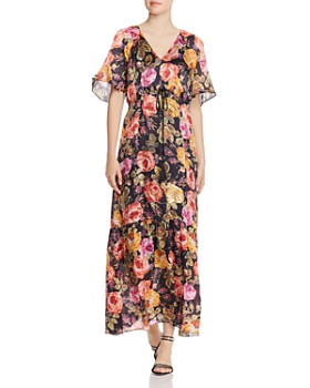 Kobi Halperin - Noa Sequined-Floral Maxi Dress