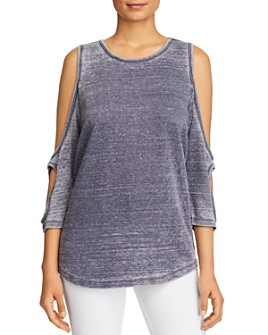 Alison Andrews - Washed Cold-Shoulder Top