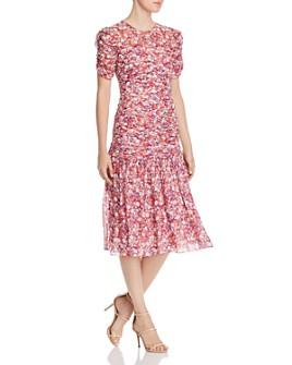 Shoshanna - Vonne Floral Midi Dress