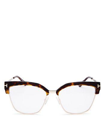 Tom Ford - Women's Cat Eye Blue Light Glasses, 54mm