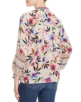 Johnny Was - Paris Silk Embroidered-Trim Blouse