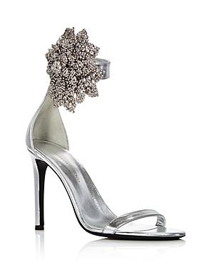 Giuseppe Zanotti Women's Crystal-Embellished High-Heel Sandals In Silver