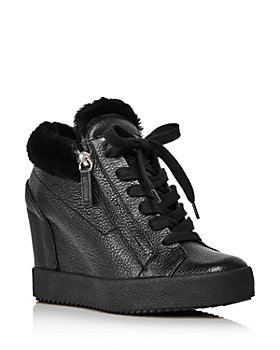 Giuseppe Zanotti - Women's Shearling-Lined Wedge Heel Sneakers