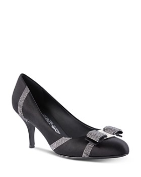 Salvatore Ferragamo - Women's Carla Crystal-Embellished Pumps