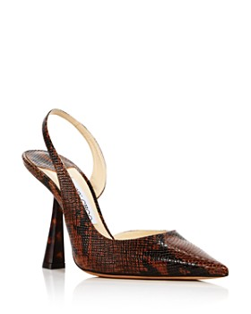 Jimmy Choo - Women's Fetto 100 Pointed Toe Slingback Pumps