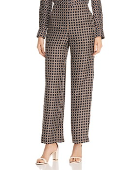 Lafayette 148 New York - Riverside Dotted Silk Wide-Leg Pants