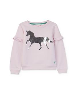 Joules - Girls' Tiana Sequin-Unicorn Sweatshirt - Little Kid, Big Kid