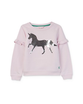 Joules - Girls' Tiana Sequin-Unicorn Sweatshirt - Little Kid, Big Kid