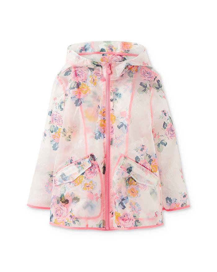 Joules - Girls' Raindance Clear Floral-Print Raincoat - Little Kid, Big Kid