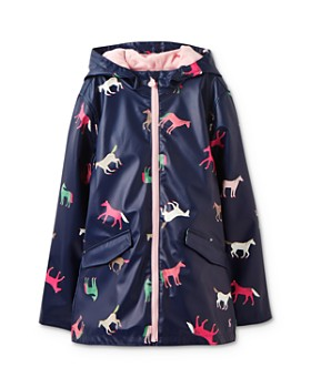 Joules - Girls' Horse-Print Raincoat - Little Kid, Big Kid