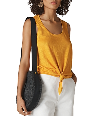 Whistles Tie-Front Linen Tank