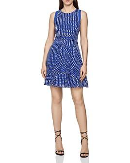 REISS - Nelly Spot-Print Dress