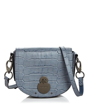 Longchamp - Cavalcade Small Croc-Embossed Saddle Crossbody
