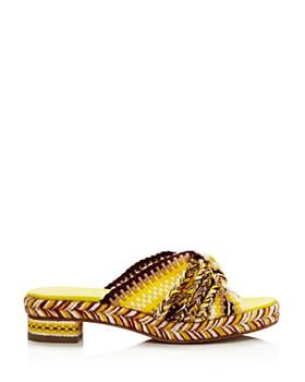 ANTOLINA - Women's Woven Slide Sandals