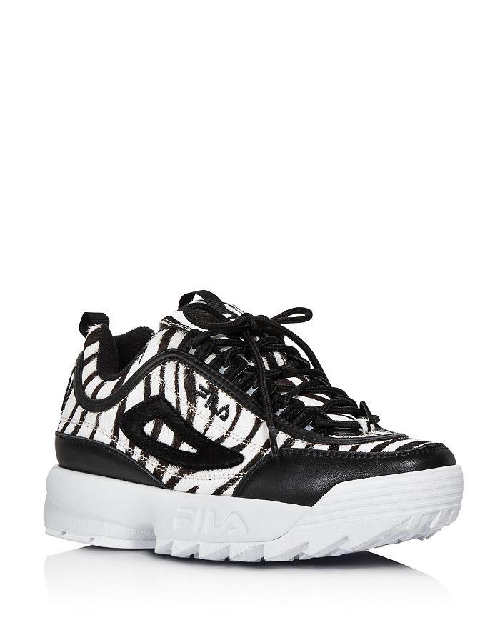 FILA - Women's Disruptor 2 Zebra-Print Platform Sneakers - 100% Exclusive