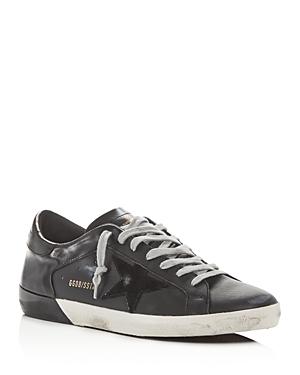 Golden Goose Unisex Superstar Leather Low-Top Sneakers In Black