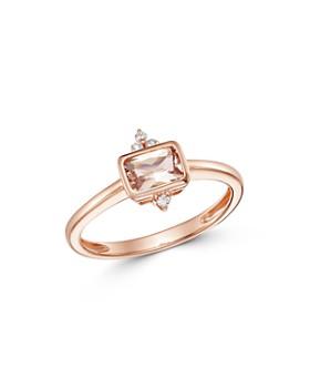 Bloomingdale's - Morganite & Diamond-Accent Ring in 14K Rose Gold - 100% Exclusive