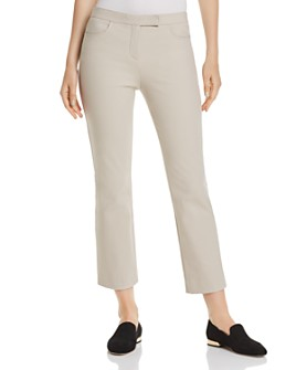 Theory - Brushed Straight Cropped Pants