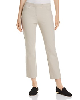 Theory - Cotton-Blend Cropped Straight Pants