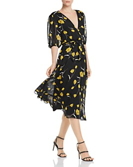 Joie - Ervina Silk Floral-Print Dress