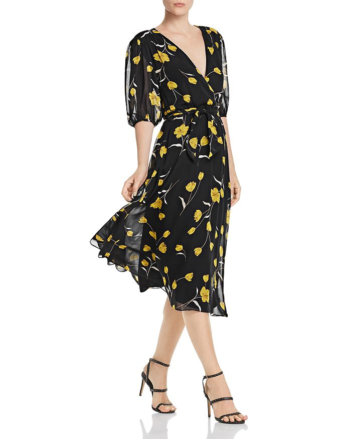 Joie - Ervina Silk Floral-Print Dress