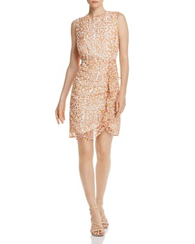 Sam Edelman - Leopard-Print Ruffled Dress