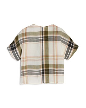 Bella Dahl - Girls' Plaid Front-Tie Top - Little Kid, Big Kid