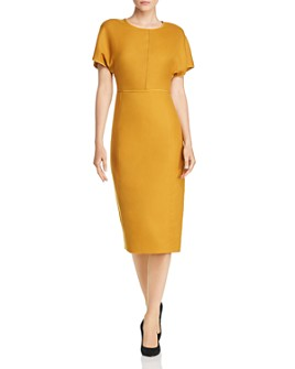 Narciso Rodriguez - Back-Zip Wool Midi Dress