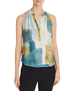Go by Go Silk - Sleeveless Snap-Front Top