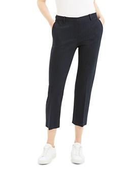 Theory - Tonal Pinstripe Cropped Pants