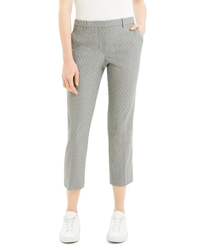 Theory - Check Cropped Pants