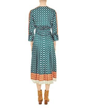 Sandro - Rain Printed Faux-Wrap Midi Dress
