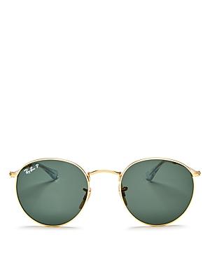 Ray-Ban Unisex Polarized Round Sunglasses, 50mm