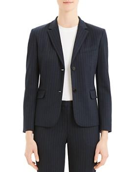 Theory - Cl Shrunken Striped Two-Button Blazer