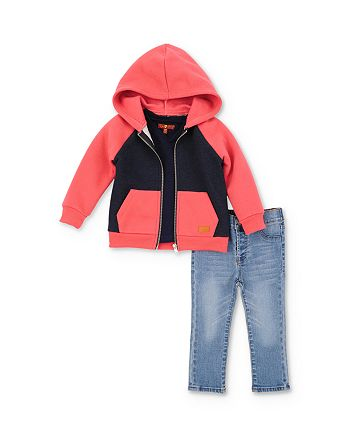 7 For All Mankind - Boys' Color-Block Hoodie, Tee & Jeans Set - Little Kid