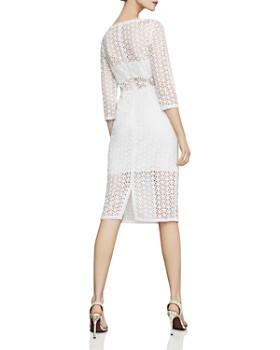 BCBGMAXAZRIA - Daisy Illusion Lace Sheath Dress