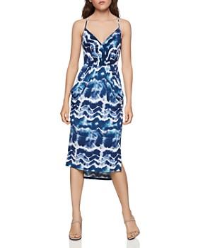 BCBGENERATION - Tie-Dye Surplice Midi Dress