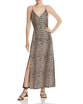 Notes du Nord - Marin Silk Stretch Leopard-Print Maxi Dress