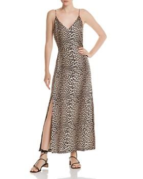 Notes du Nord - Marin Silk Stretch Leopard-Print Maxi Dress