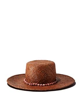Gigi Burris Millinery - Beaded-Trim Straw Sun Hat